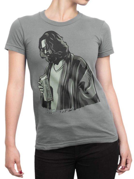 0281 Big Lebowski T Shirt TheDude Front Woman