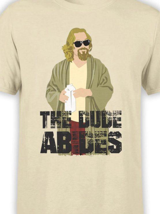 0286 Big Lebowski T Shirt The Dude Abides Front Color