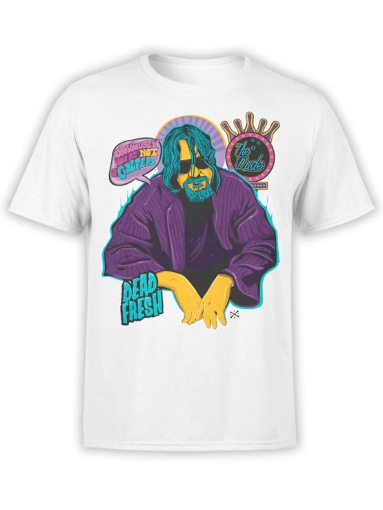 0573 Big Lebowski T Shirt Obviously Front