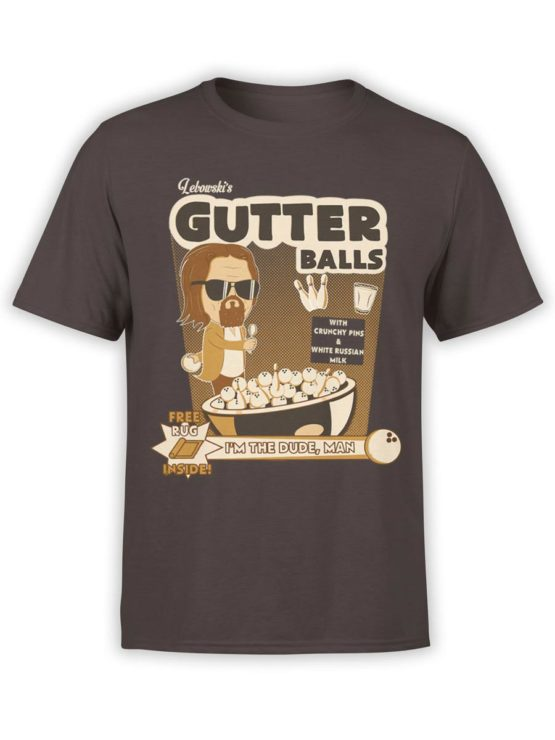 0591 Big Lebowski T Shirt Dude Gutter Front