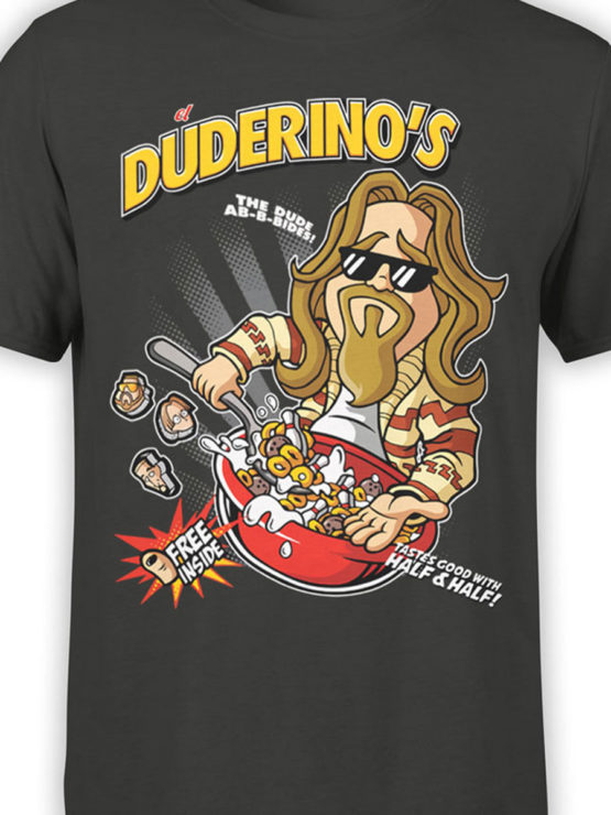 0676 Big Lebowski T Shirt Duderinos Front Color